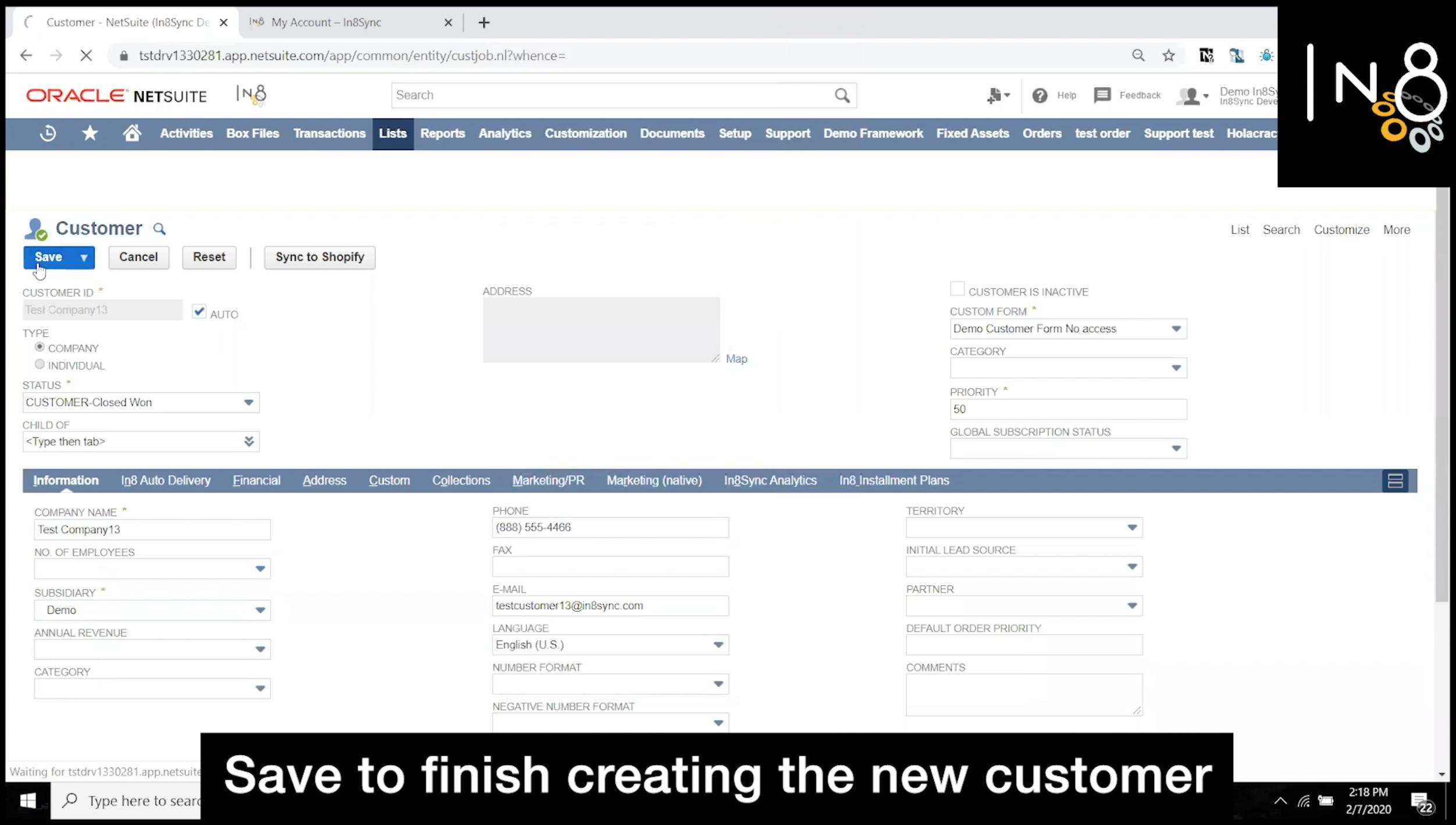 WooCommerce Customer Sync Step 3